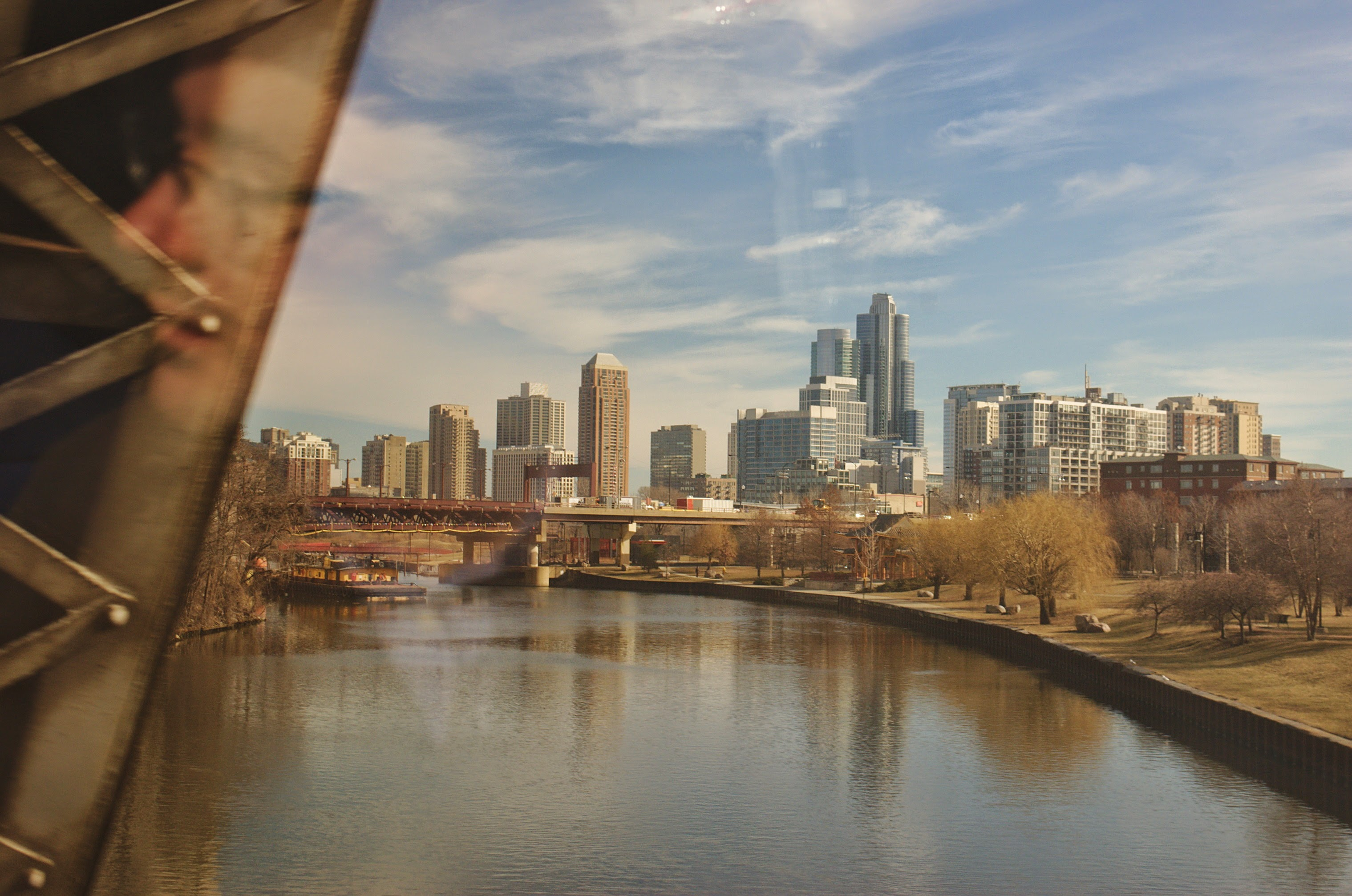 The windy city as seen from Amtrak 51.